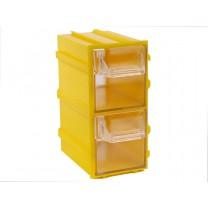 Контейнер К3, корпус желтый (лоток прозрачный), 49х82х100мм