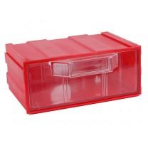 Контейнер К1, корпус красный (лоток прозрачный), 131х107х57мм