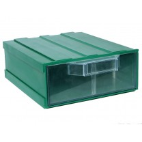 Контейнер К2, корпус зеленый (лоток прозрачный), 133х167х57мм