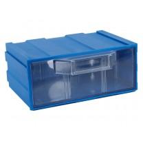 Контейнер К1, корпус синий (лоток прозрачный), 131х107х57мм