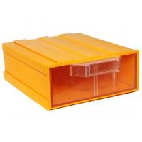 Контейнер К2, корпус желтый (лоток прозрачный), 133х167х57мм