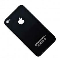 Задняя крышка для iPhone 4 черная (олеофобное покрытие)
