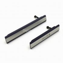 Комплект заглушек для Sony Xperia Z2 (microUSB + microSIM/microSD) черный