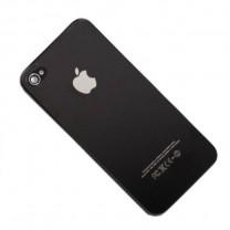 Задняя крышка для iPhone 4S черная (олеофобное покрытие)