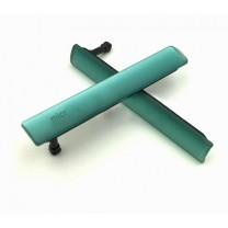 Комплект заглушек для Sony Xperia Z3 compact (microUSB + microSIM/microSD) мятно-зеленый