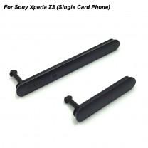 Комплект заглушек для Sony Xperia Z3 (microUSB + microSIM/microSD) черный