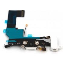Шлейф iPhone 5S на системный разъем + разъем гарнитуры + микрофон, белый