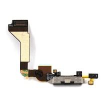 Шлейф iPhone 4 на системный разъем + микрофон, черный