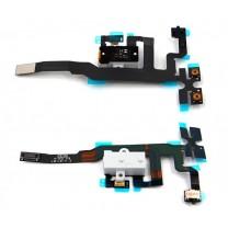 Шлейф iPhone 4S на разъем гарнитуры + микрофон, белый