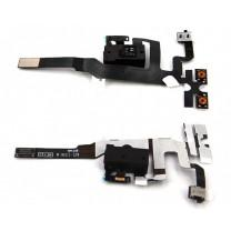 Шлейф iPhone 4S на разъем гарнитуры + микрофон, черный