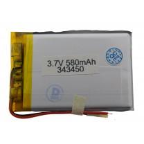 Литий-полимерный аккумулятор 3.4X34X50mm 3.7V 580mAh