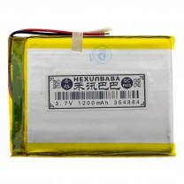 Литий-полимерный аккумулятор 3.5X48X64mm 3.7V 1200mAh