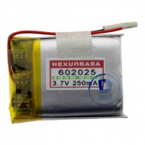 Литий-полимерный аккумулятор 6.0X20X25mm 3.7V 250mAh