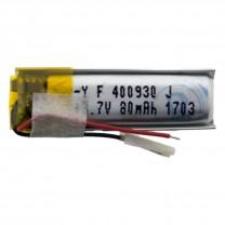 Литий-полимерный аккумулятор 4.0X09X30mm 3.7V 80mAh