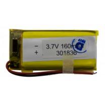Литий-полимерный аккумулятор 3.0X18X36mm 3.7V 160mAh