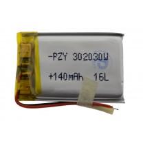 Литий-полимерный аккумулятор 3.0X20X30mm 3.7V 140mAh