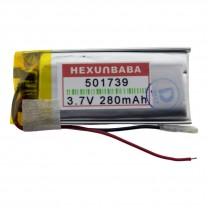Литий-полимерный аккумулятор 5.0X17X39mm 3.7V 280mAh