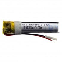 Литий-полимерный аккумулятор 5.0X08X39mm 3.7V 100mAh