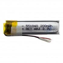 Литий-полимерный аккумулятор 5.5X10X40mm 3.7V 200mAh
