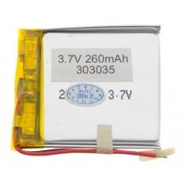 Литий-полимерный аккумулятор 3.0X30X35mm 3.7V 260mAh