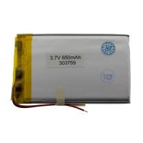 Литий-полимерный аккумулятор 3.0X37X59mm 3.7V 650mAh