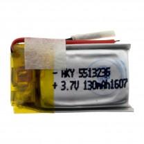 Литий-полимерный аккумулятор 5.5X13X23mm 3.7V 130mAh