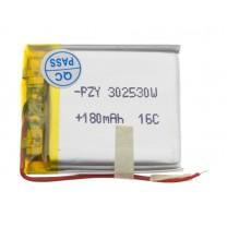 Литий-полимерный аккумулятор 3.0X25X30mm 3.7V 180mAh