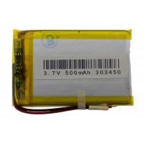 Литий-полимерный аккумулятор 3.0X34X50mm 3.7V 500mAh