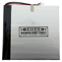 Литий-полимерный аккумулятор 2.8X90X93mm 3.8V 4100mAh
