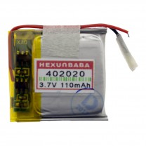 Литий-полимерный аккумулятор 4.0X20X20mm 3.7V 110mAh