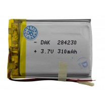 Литий-полимерный аккумулятор 2.8X42X30mm 3.7V 310mAh