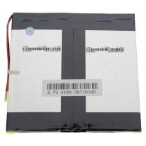Литий-полимерный аккумулятор 3.5X110X100mm 3.7V 4400mAh