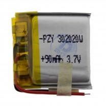 Литий-полимерный аккумулятор 3.0X20X20mm 3.7V 90mAh