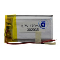 Литий-полимерный аккумулятор 3.0X20X35mm 3.7V 170mAh