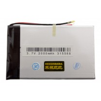 Литий-полимерный аккумулятор 3.1X55X88mm 3.7V 2000mAh