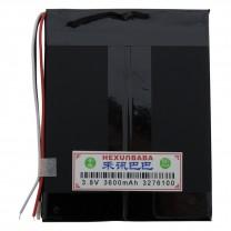 Литий-полимерный аккумулятор 3.2X76X100mm 3.8V 3600mAh